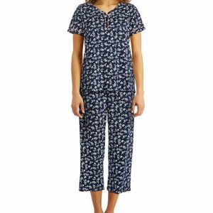 NWT! Charter Club Fluttered Flora Short Pajama Set